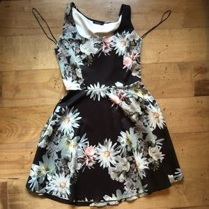 Lovely flower fit and flare summer dress